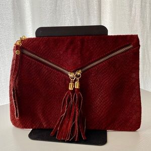 Small Red Leather Clutch